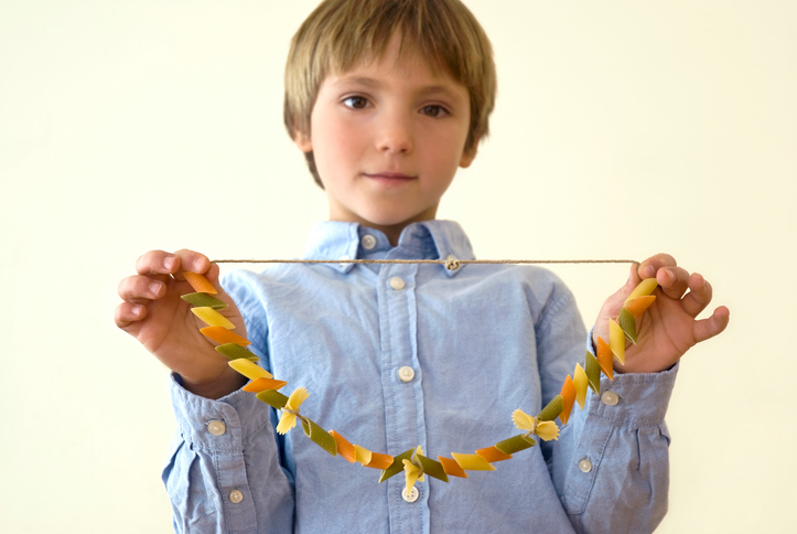3 Kids Crafts with Pasta to Celebrate World Pasta Day