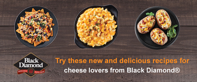 Try these delicious recipes for cheese lovers from our friends at Black Diamond®