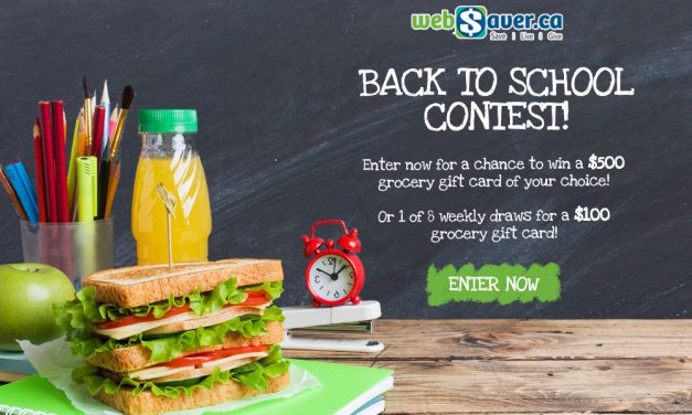 Enter the webSaver.ca Save on Back to School Contest for a chance to win up to $1,300 in Prizes